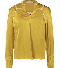 satijnen blouse valera  geel