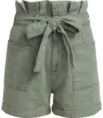 joe's jeans women's the army paperbag shorts - seagrass - size 23 (00)