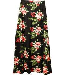 falda larga floreada negra new jacinta tienda