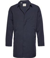 slhfelix coat w ex trenchcoat lange jas blauw selected homme
