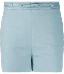 redvalentino bow trim shorts - blue