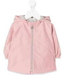bonpoint hooded mid-length parka - pink