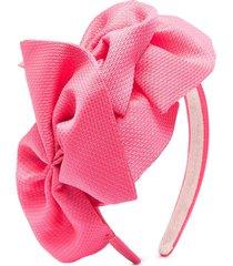 abel & lula bow applique headband - pink