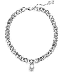 karine sultan short imitation pearl collar necklace in silver at nordstrom