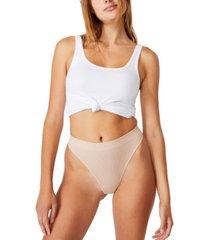 women's seamless high cut thong brief