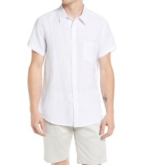 vintage summer short sleeve slub button-up shirt, size xx-large in white at nordstrom