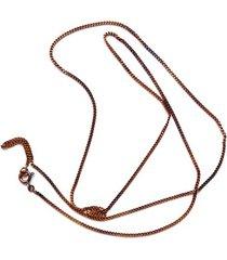 łańcuszek ogniwkowy srebrny brązowy 45 cm