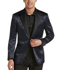 egara blue geometric leopard slim fit formal dinner jacket