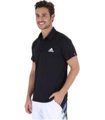 camisa polo adidas club td - masculina - preto