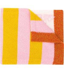 barrie stripe detail scarf - pink