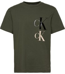 ck eco fashion ss tee t-shirts short-sleeved grön calvin klein jeans