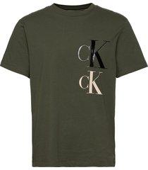 ck eco fashion ss tee t-shirts short-sleeved grön calvin klein jeans