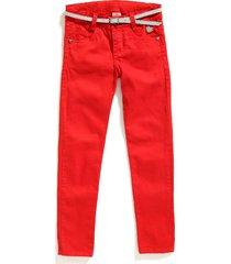 pantalon camila color rojo silueta skinny