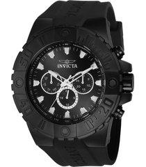 reloj invicta 23973 negro poliuretano