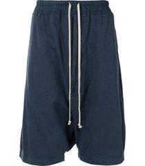 rick owens drkshdw drop-crotch shorts - blue