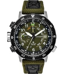 citizen eco-drive men's promaster altichron khaki cordura strap watch 47mm