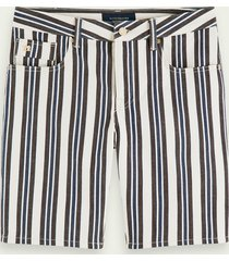 scotch & soda ralston short - stripe out | mid rise slim fit