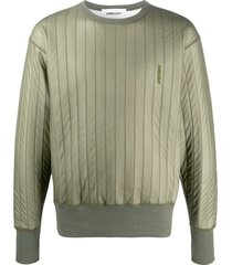 ambush drop shoulder padded sweatshirt - green