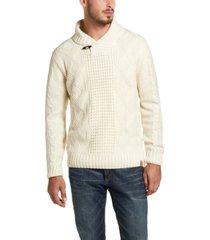 weatherproof vintage men's fisherman toggle shawl neck sweater