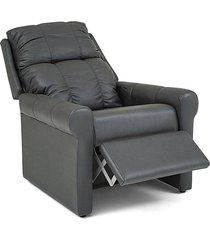poltrona reclinável herval turin, sintético preto