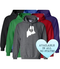 maine hoodie sweatshirt love home heart unisex men women state