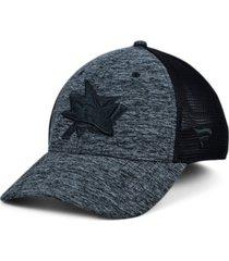 authentic nhl headwear san jose sharks 2020 tnt black ice mesh flex cap