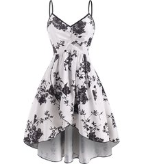 flower print ruched tulip dress