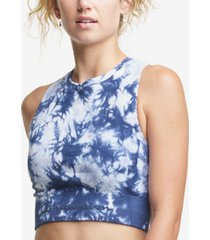 champion women's tie-dyed seamless cropped tank top