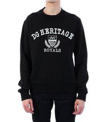 dolce & gabbana heritage sweatshirt black