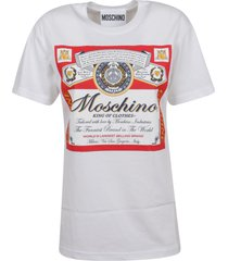 moschino t-shirt with exclusive graphic fashion house print