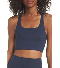 girlfriend collective paloma sports bra, size large in midnight at nordstrom