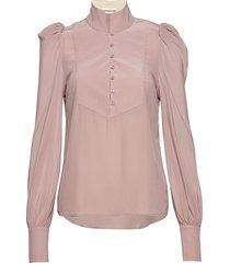 peline blouse lange mouwen roze custommade