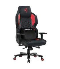 cadeira gamer reclinável magna ignis elements gaming c/ almofada lombar