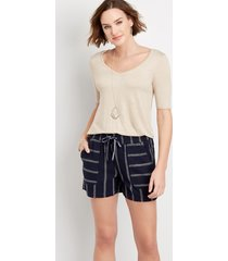 maurices womens high rise pull on weekender 4in shorts blue