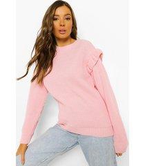 trui met mouw franjes, pink
