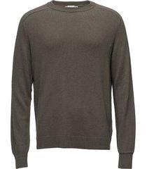 compose sweater gebreide trui met ronde kraag groen hope