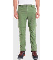 pantalón hi-tec desmontable verde - calce regular