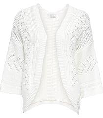 cardigan corto oversize (bianco) - bodyflirt