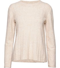 claire o-neck knit stickad tröja creme soft rebels