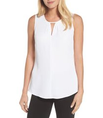 women's nic+zoe easy keyhole tank top, size x-large - white