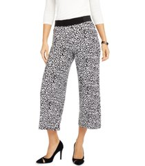 inc animal-print cropped wide-leg pants, created for macy's