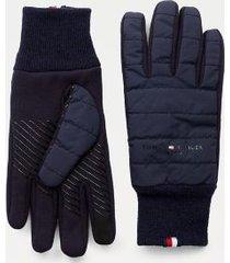 tommy hilfiger men's tonal mix flag gloves desert sky - l-xl