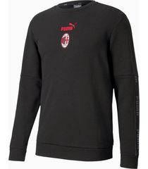 ac milan ftblculture voetbalsweater ii voor heren, rood/zwart, maat l | puma