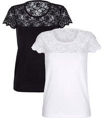 kavajtopp simone svart::vit