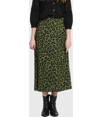 falda jacqueline de yong larga verde - calce regular
