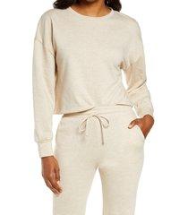 women's socialite women's crewneck sweatshirt, size x-small - beige