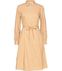 beatrice midi shirt dress knälång klänning beige soft rebels