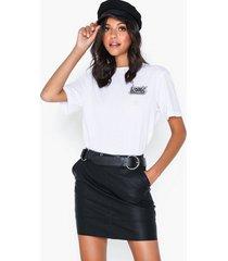 only onlbase faux leather skirt otw noos minikjolar svart