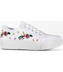 sneaker con plateau (bianco) - rainbow