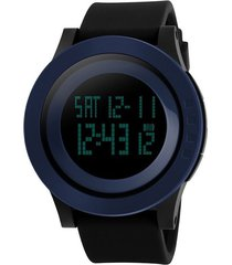 skmei 1142 reloj digital impermeable alarma - negro azul